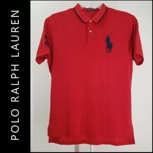 Polo Ralph Lauren Men's Polo Shirt Size Large Red